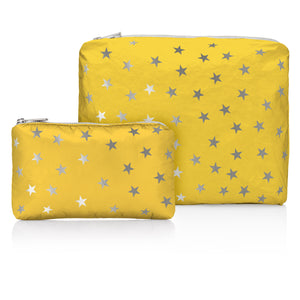 Last One! Set of Two - Island Sunshine with Myriad Silver Stars