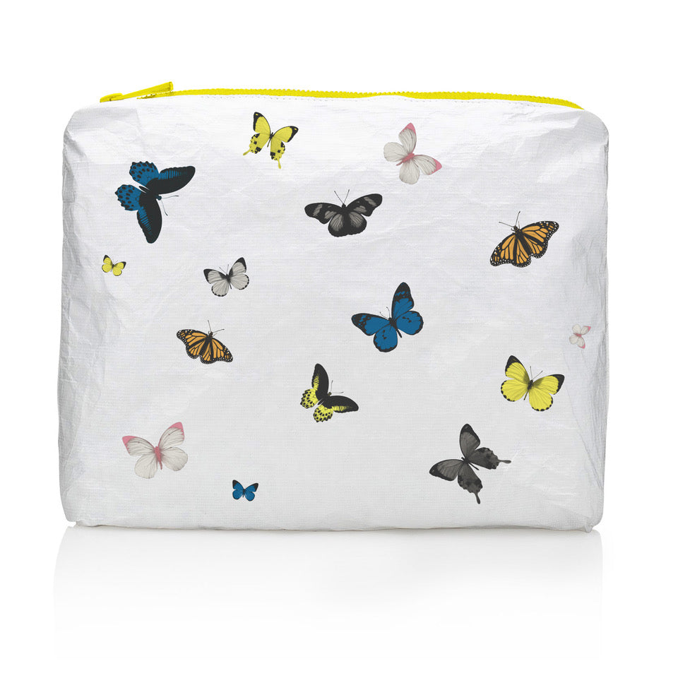 Butterfly Bag - Butterfly Purse - Travel Pack - Medium Pack - Butterflies in Flight on White