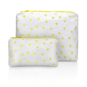 Set of Two - Shimmer White with Myriad Lemon Fizz Stars