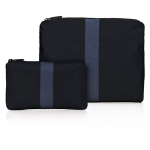 Set of Two Packs - Black with Navy Stripe