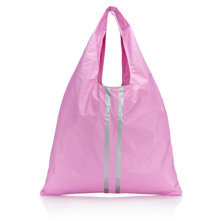 Carryall Tote - Sweet Lilac with Double Metallic Lines