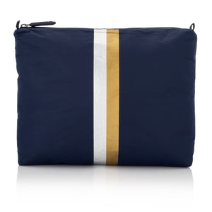 Travel Pack - Medium Pack - Navy HLT Collection with Metallic Silver and Gold Stripes