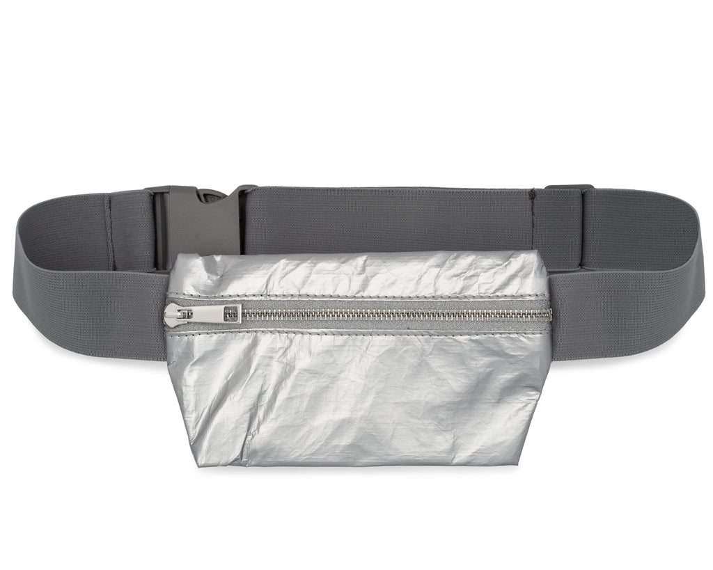 Invisible Pack - Metallic Silver Fanny Pack