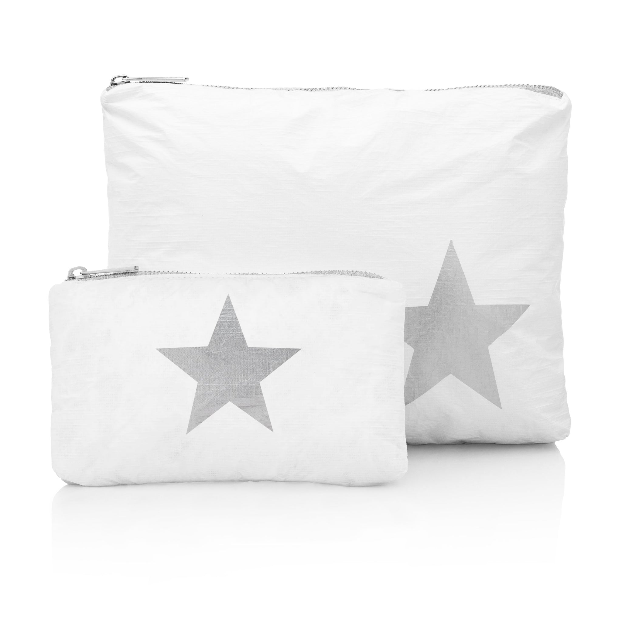 Set of Two Packs - White with a Metallic Silver Star