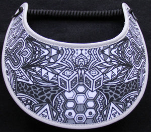 Foam sun visor with zentangle design
