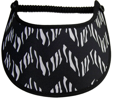 Foam sun visor with chevron design with animal print