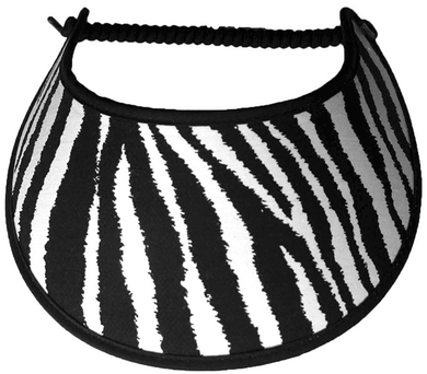 Foam sun visor with zebra design