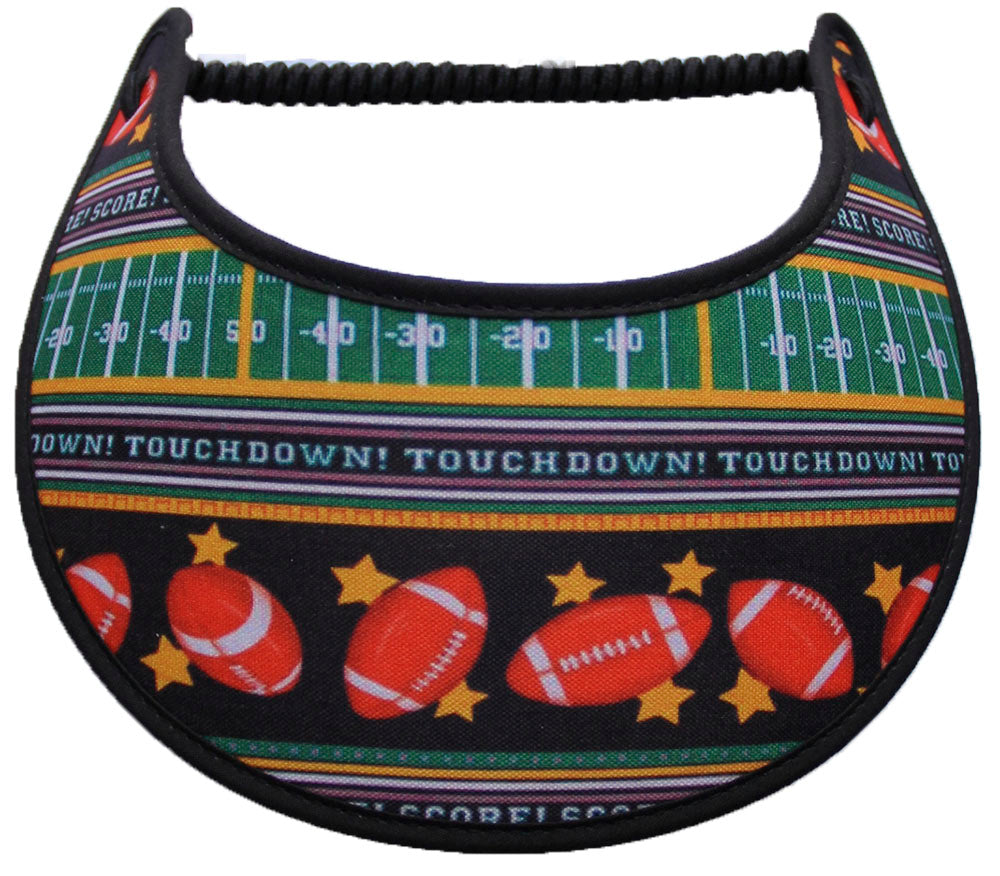 Foam sun visor footballs & field