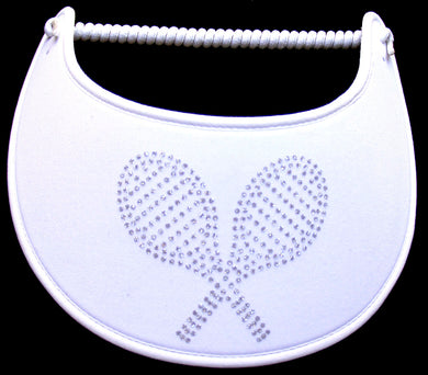 GB104 TENNIS RACQUETS ON WHITE..EDGES TRIMMED WITH WHITE FABRIC
