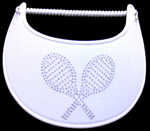 F103 TENNIS RACQUETS ON WHITE..EDGES TRIMMED WITH WHITE FABRIC