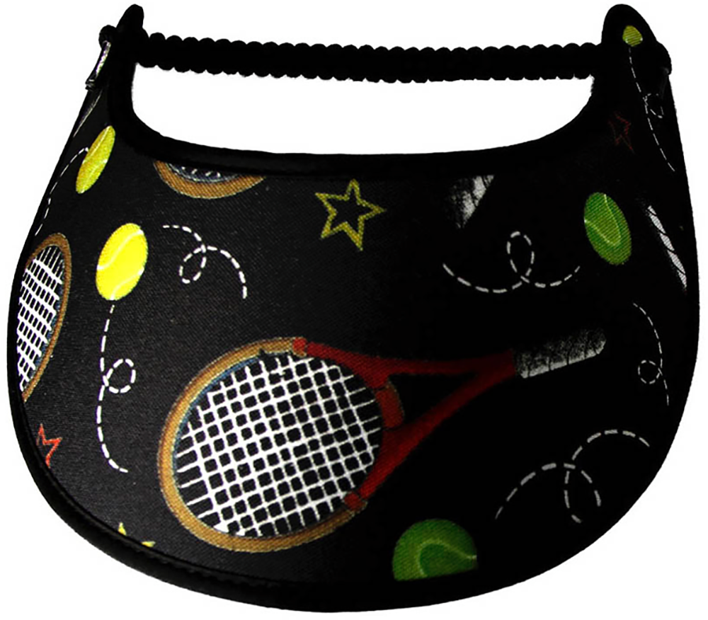 Foam sun visor with tennis ball and net