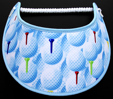 Foam sun visor with golf balls & tees