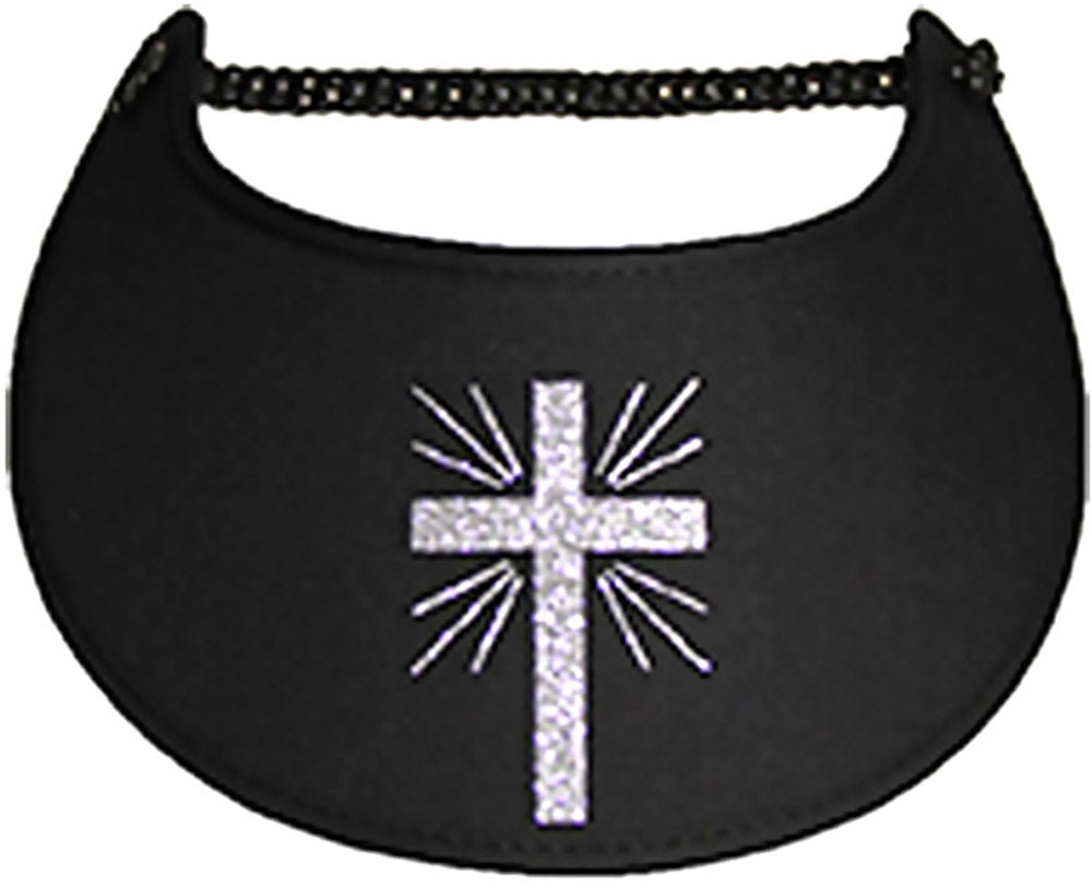 Foam sun visor with cross