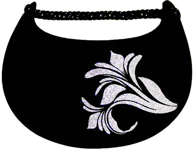 Foam sun visor with flower