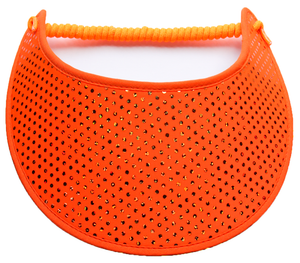 Foam sun visor in orange glitz