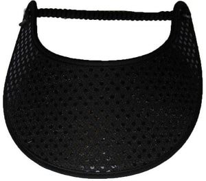 Foam sun visor with black glitz