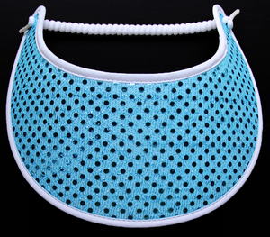 Foam sun visor with aqua glitz