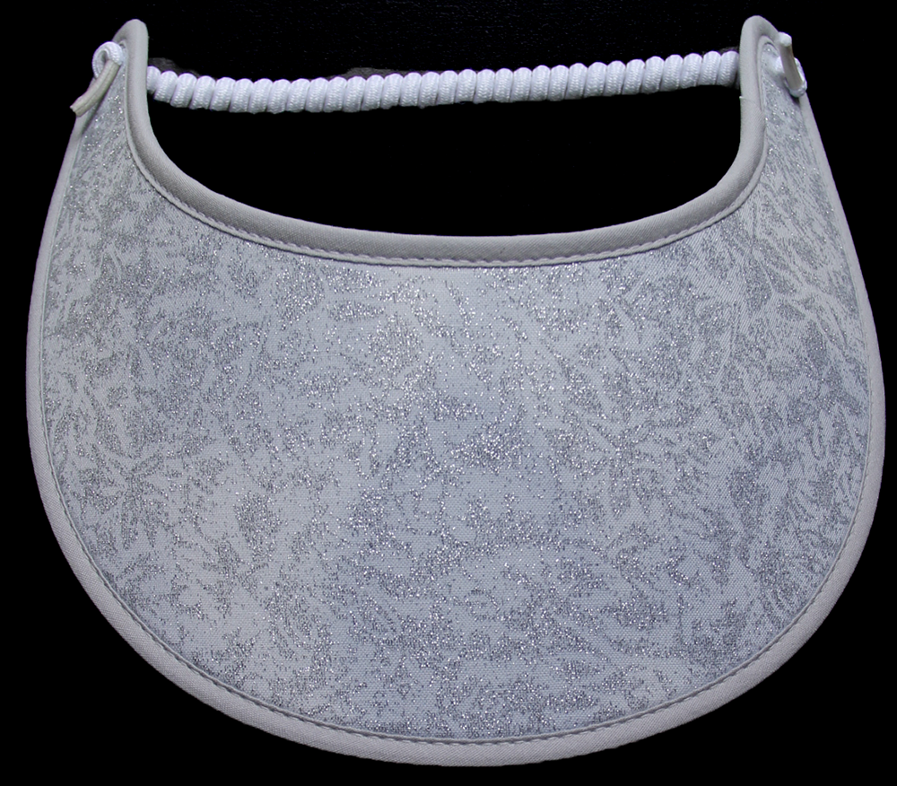 Foam sun visor with silver overlay