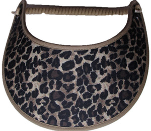 FOAM SUN VISOR WITH LARGE ANIMAL PRINT.