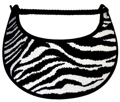 Foam sun visor with zebra print