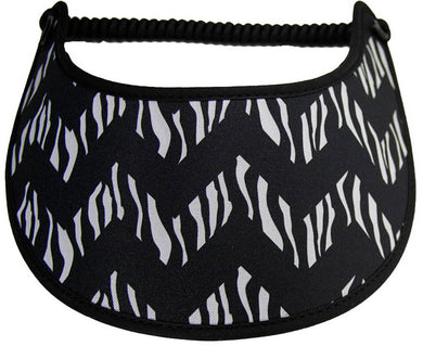 Foam sun visor with chevron animal print