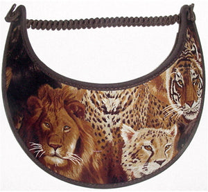 Foam sun visor with lions and tigers