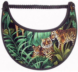Foam sun visor with tigers in jungle