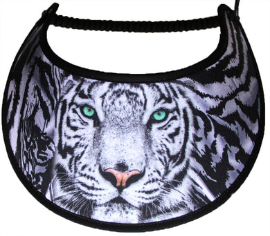 Ladies sun visor with animal face in shades of black