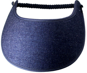 Solid Dark Denim foam sun visor
