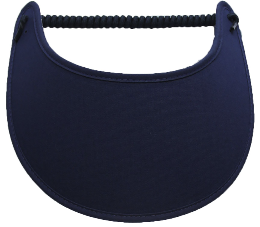 Solid navy foam sun visor