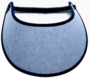 Foam sun visor with blue chambray