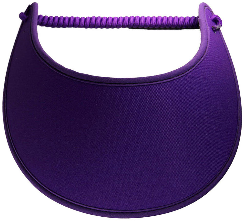 Solid purple foam sun visor.