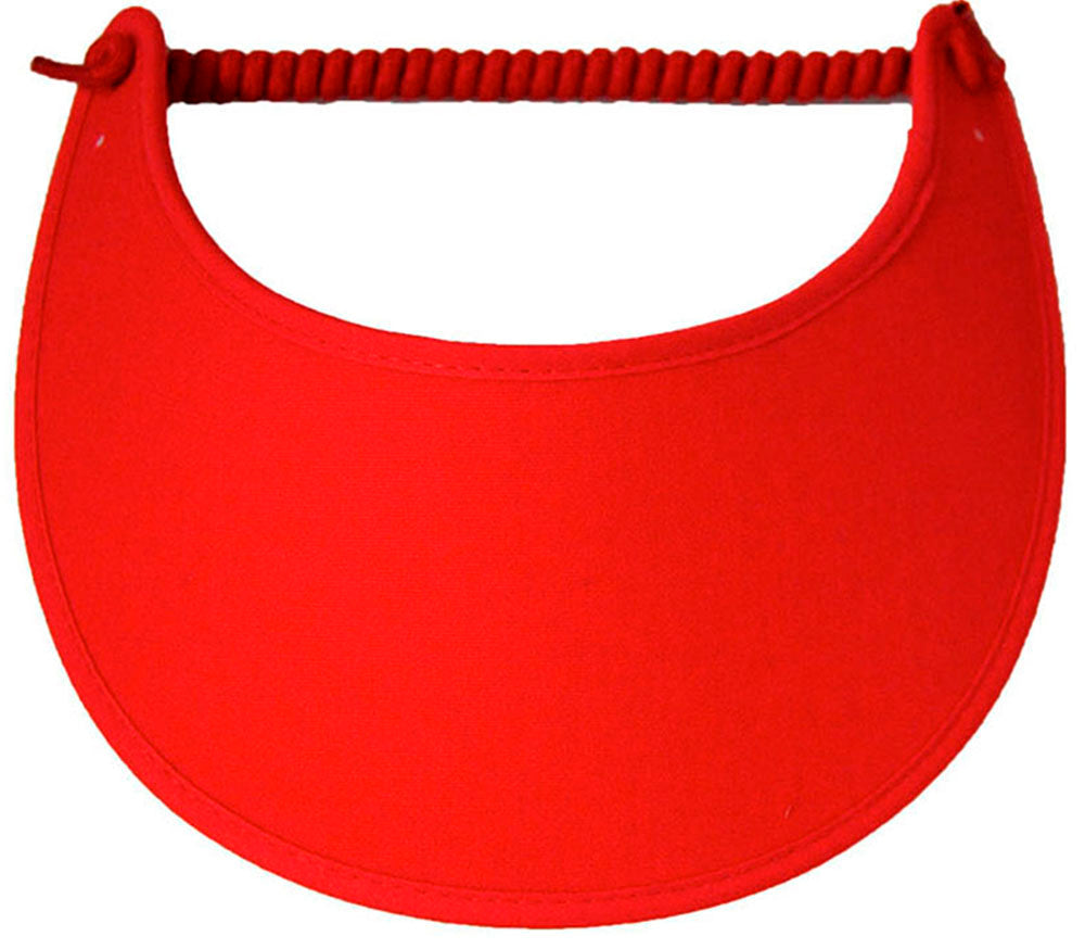 Solid red foam sun visor