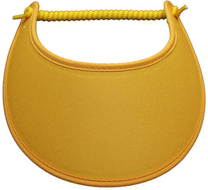 Solid gold colored foam sun visor.
