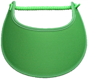 Solid lime green foam sun visor.