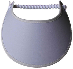 Solid gray foam sun visor.