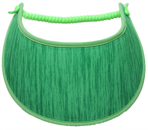 L410  SHADES OF GREEN...VISOR EDGES TRIMMED WITH LIME GREEN FABRIC
