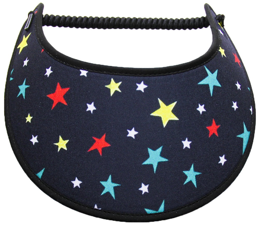 Foam sun visor with assorted stars