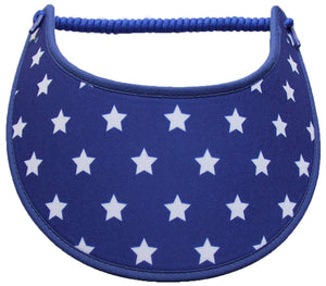 Foam sun visor with white stars on blue