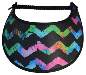 M395 MULTICOLORED CHEVRON ON BLACK
