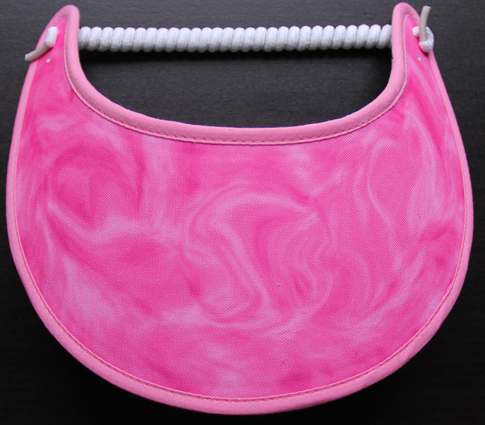 Foam sun visor with shades of pink