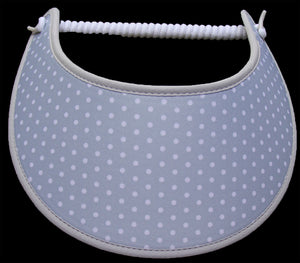 Foam sun visor with small white dots on gray