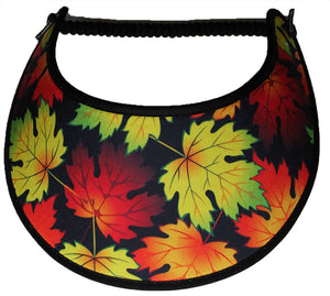 Ladies foam sun visor with fall leaves