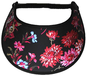 Foam sun visor with red and pink flowers