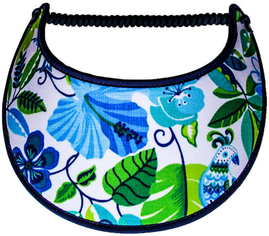 Ladies foam sun visor with morning glories