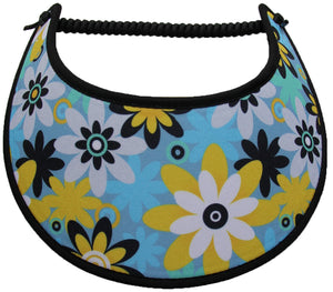 Foam sun visor with assorted flowers