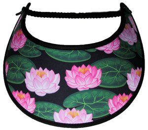 Ladies foam sun visor with pink water lilies
