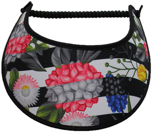 Ladies foam sun visor with various flowers and berries