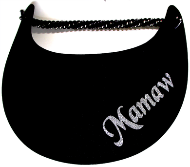 Foam sun visor with Grandma nickname Mamaw in silver