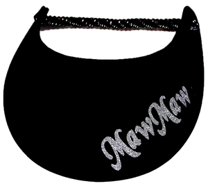 Foam sun visor with with Grandma nickname MawMaw in silver bling